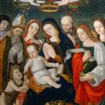 Sala E, Francesco di Montereale, Madonna col Bambino e santi, databile dopo il 1505.