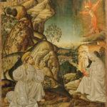Sala D, dipinto raffigurante San Francesco che riceve le stimmate, 1480-1485 (maestro di San Giovanni da Capestrano).