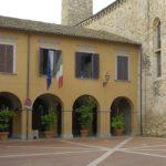Il portico di accesso al museo, all'interno dell'antico convento di San Francesco.