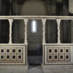 Vista frontale dell'iconostasi dopo gli ultimi lavori di restauro